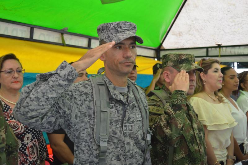 Fuerza Aérea Colombiana participa en la ceremonia de transmisión de mando de la PONAL en la Amazonía