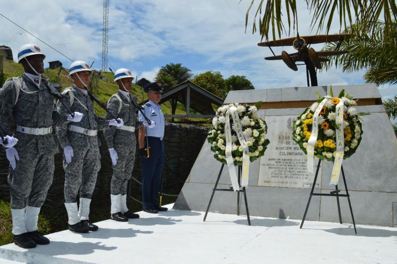 Homenaje al 87° aniversario de la Batalla de Tarapacá fue liderado por la Fuerza Aérea Colombiana