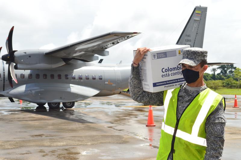 Más ayudas para el Amazonas fueron transportadas por su Fuerza Aérea para enfrentar el Covid-19