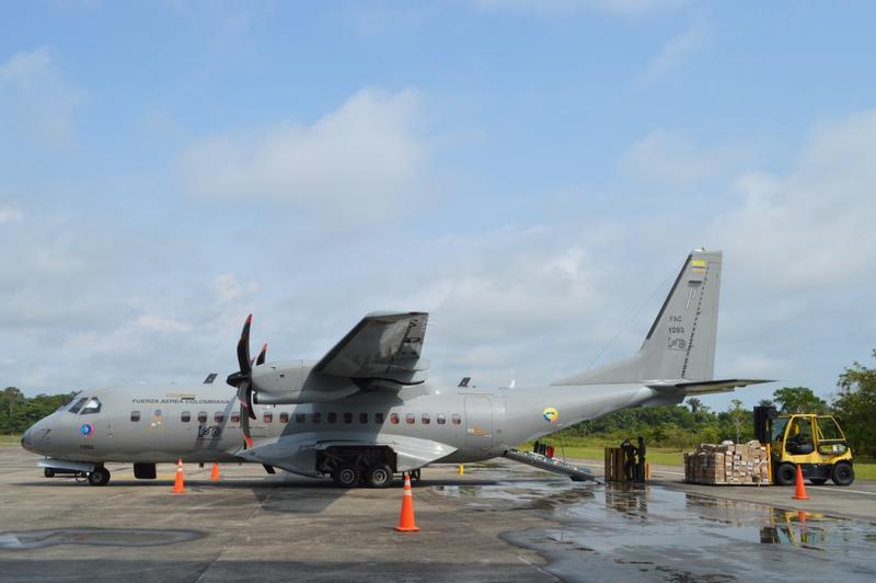 Menores de cero a cinco años de La Chorrera recibirán ayudas transportadas en un vuelo humanitario de su Fuerza Aérea