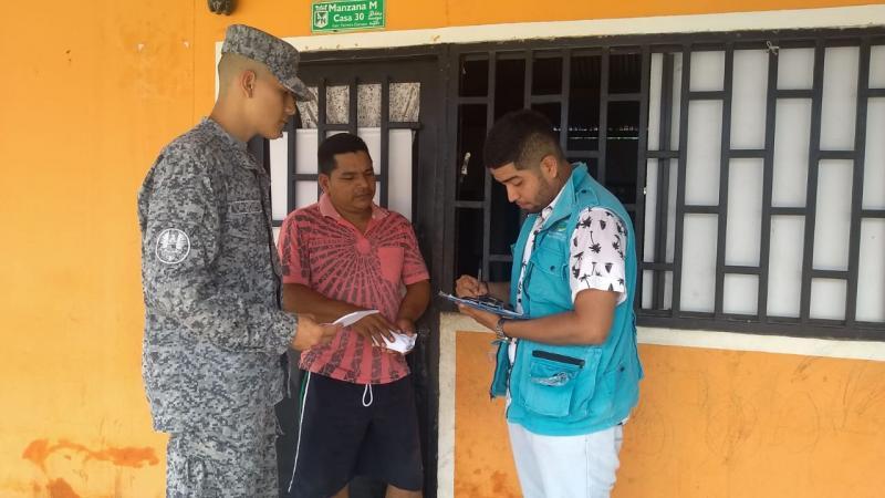 Fuerza Aérea Colombiana realiza campañas de sensibilización para la prevención del dengue en Leticia