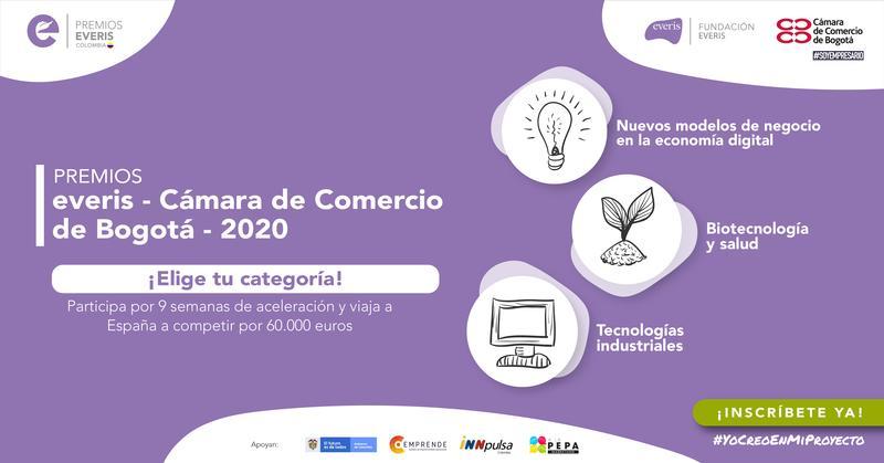 La Fundación everis y la Cámara de Comercio de Bogotá, amplían plazo hasta el 9 de agosto para inscripción a la convocatoria a los Premios everis Colombia