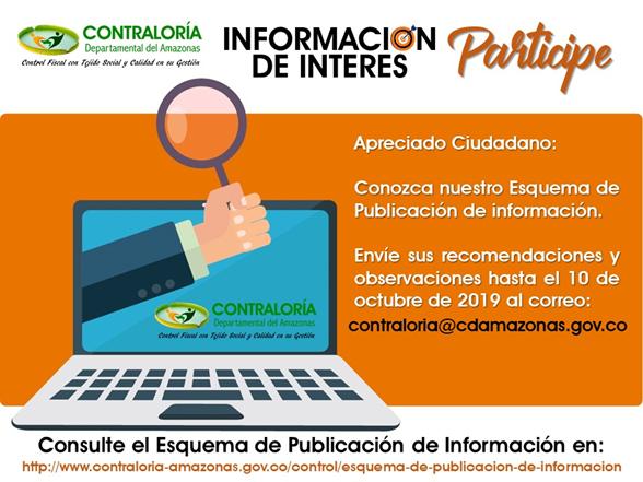 CDA ACTUALIZA SU ESQUEMA DE PUBLICACION DE INFORMACION - PARTICIPE