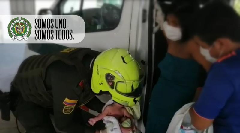 POLICÍA ATIENDE PARTO, UNA PERSPECTIVA DE VIDA ENTRE LA CRISIS DEL COVID-19 EN EL DEPARTAMENTO DE AMAZONAS