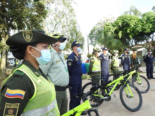 """552 Policías, desplegados en el departamento para el Plan """"Semana Santa Segura y con Autocuidado"""""""