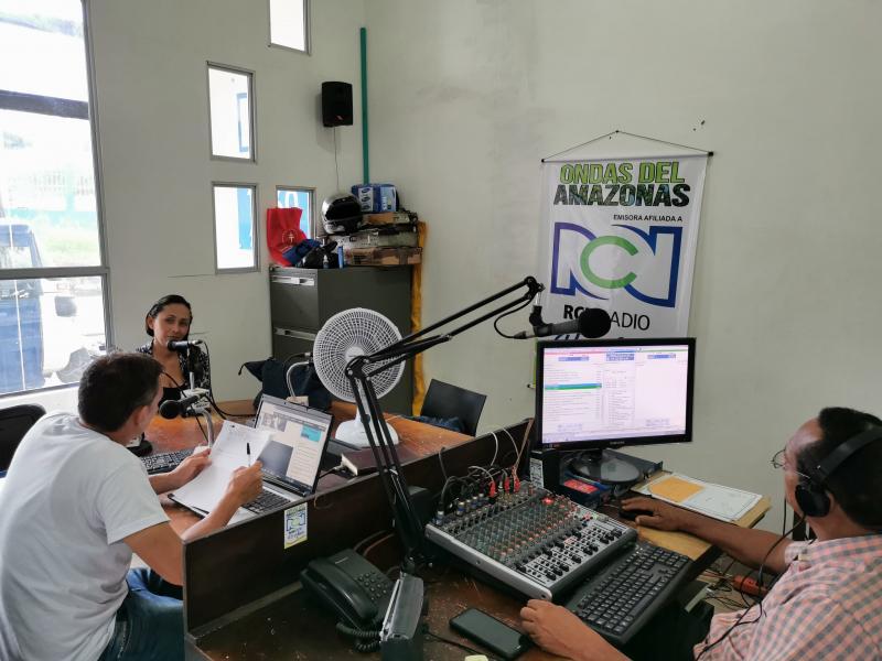"""Estuvimos al aire en el Noticiero """"Cómo amaneció el Amazonas"""" de la Emisora Ondas del Amazonas - RCN, dando a conocer el balance de acciones por parte del Instituto Colombiano de Bienestar Familiar Regional Amazonas, dentro de la implementación de la Alia"""