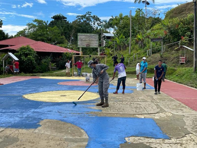 Jornada de embellecimiento y recuperación de espacios deportivos fue apoyada por el GAAMA