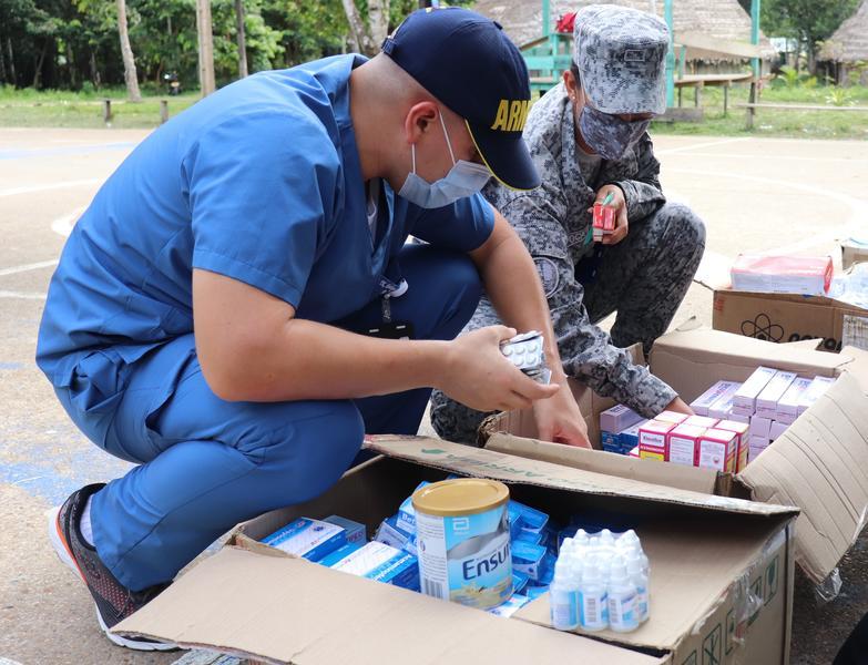 Jornada de salud fue apoyada por su Fuerza Aérea Colombiana en el Amazonas