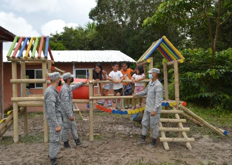 GAAMA donó nuevo parque infantil para niños y niñas amazonenses