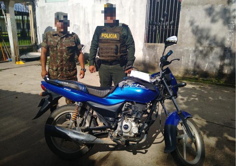 Se recupera motocicleta de ciudadano Brasilero