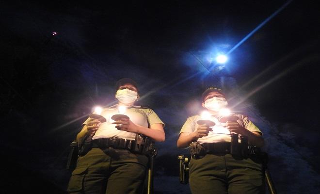 CELEBRAMOS LA HORA DEL PLANETA EN EL COMANDO DE DEPARTAMENTO DE POLICÍA AMAZONAS