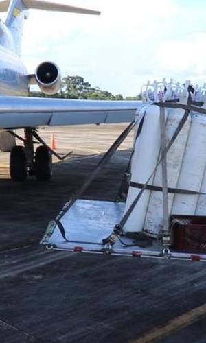 Apoyo vital para el hospital San Rafael de Leticia Amazonas, llevado a cabo por su Fuerza Aérea