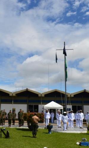 Fuerza Militares de Colombia participan en ceremonia militar en Tabatinga