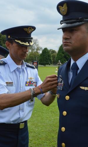 Ceremonia de ascenso de suboficiales de las Fuerzas Militares en el Amazonas