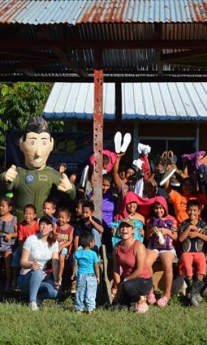 Donación de la Fuerza Aérea Colombiana, benefició a comunidad del barrio San Miguel en Leticia