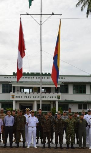 Colombia, Brasil y Perú, honran los Símbolos Patrios en ceremonia Tripartita