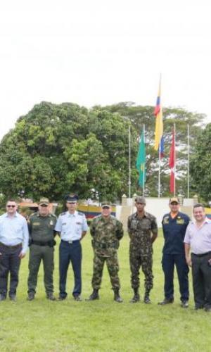 Fuerzas Públicas de Colombia, Brasil y Perú participan en ceremonia Tripartita en el Amazonas