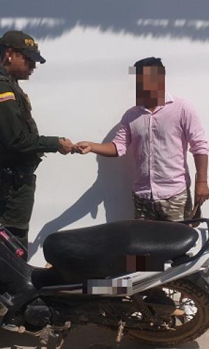 En Amazonas, capturamos a un sujeto por el delito de hurto