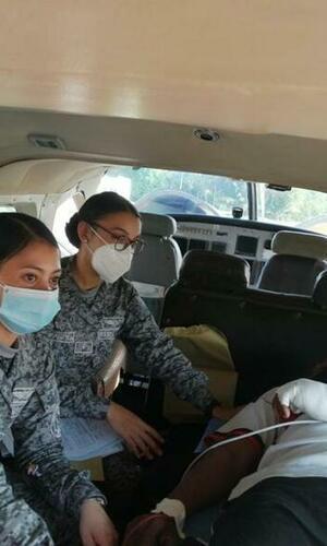 Oportuna evacuación a militar que requería atención médica especializada