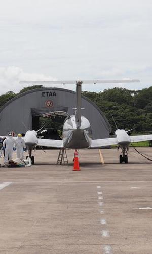 Oportuno traslado aeromédico a un hombre diagnosticado con COVID- 19 en el Amazonas