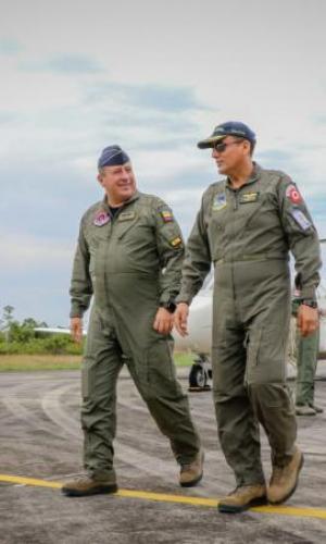 """Colombia y Perú realizan cuarto Ejercicio Binacional de Interdicción Aérea """"Percol"""""""