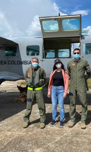 Profesionales de la salud llegaron a zonas de difícil acceso en aeronave de su Fuerza Aérea Colombiana