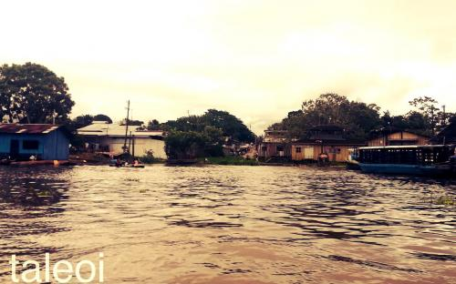 Entrada por rio a la ciudad de Leticia