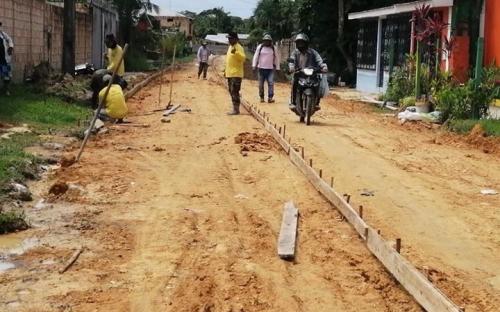 Obras continuam avançando em Tabatinga