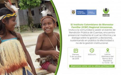 RENDICIÓN PÚBLICA DE CUENTAS ICBF REGIONAL AMAZONAS 2019
