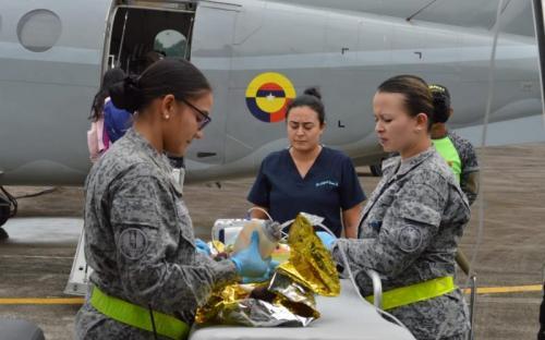 Salud de menor es salvaguardada por la Fuerza Aérea Colombiana en el Amazonas