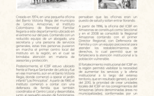 ICBF, más de cuarenta años al servicio de la niñez en el Amazonas