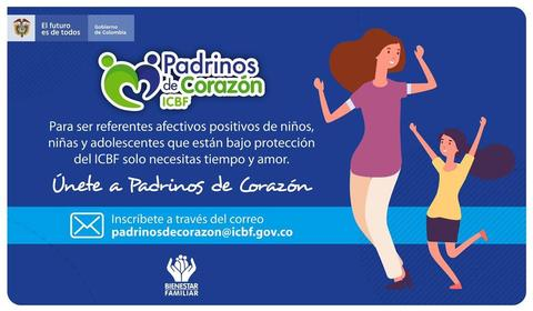 El ICBF los invita a ser #PadrinosDeCorazón