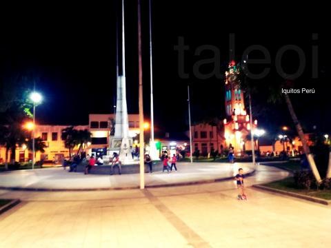 Plaza de armas en Peru