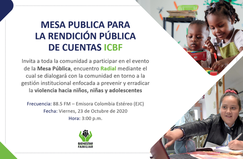 INVITACIÓN: Mesa Publica del Centro Zonal Leticia