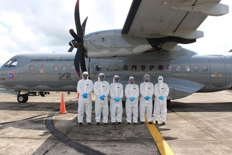 Inicia traslado de pacientes con Covid-19 desde Amazonas en avión hospital de su Fuerza Aérea Colombiana