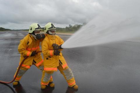 Ejercicio de reacción frente accidente aéreo fue realizado por su Fuerza Aérea Colombiana en Leticia
