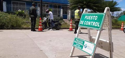 POLICÍA REFUERZA LOS CONTROLES EN LETICIA POR AUMENTO DE CONTAGIOS POR COVID-19