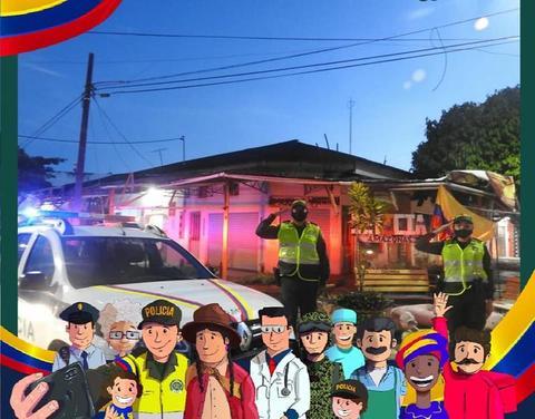LA POLICÍA EN TODO EL DEPARTAMENTO DEL AMAZONAS CELEBRÓ LOS 210 AÑOS DEL GRITO DE INDEPENDENCIA