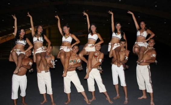 Bailarines en foto