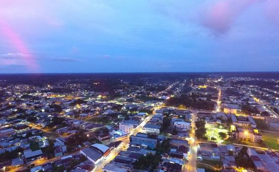 Vista aerea da cidade tabatinga