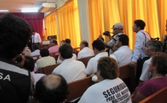 Personas en una audiencia