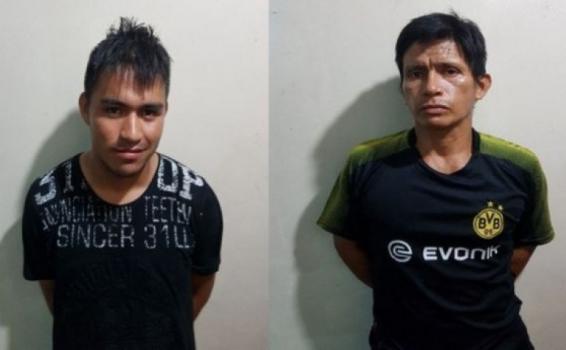 Dos personas capturadas