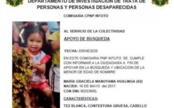 image for Familia busca niña de dos años desaparecida la semana pasada