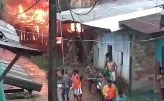 image for Balón de gas explota y deja seis viviendas afectadas