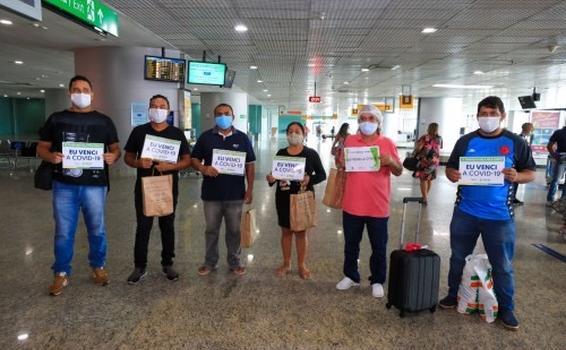 image for Pacientes retornam a Manaus após vencerem a Covid-19