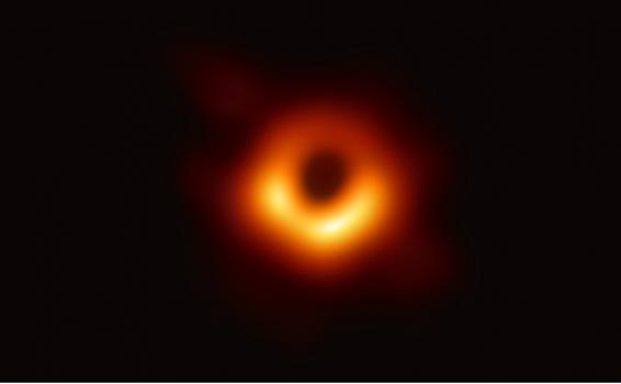 Imagen de un agujero negro