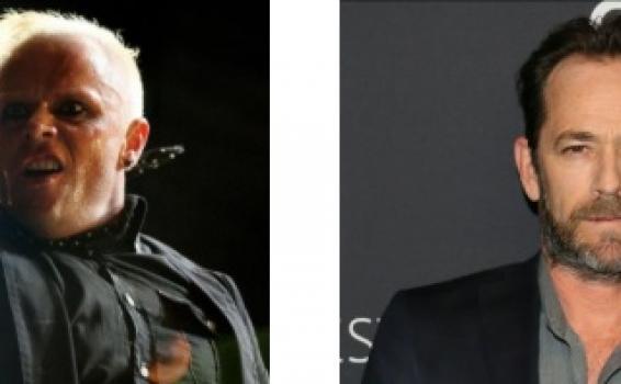 Keith Flint y Luke Perry en dos fotos juntas