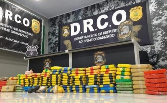image for Apreende 130 quilos de cocaína pura produzida na Colômbia