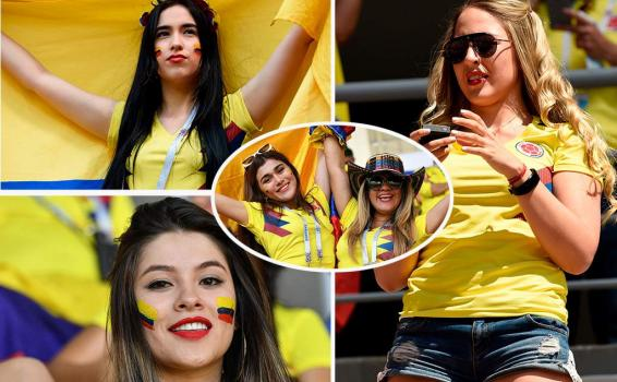Colombianas en varias fotos