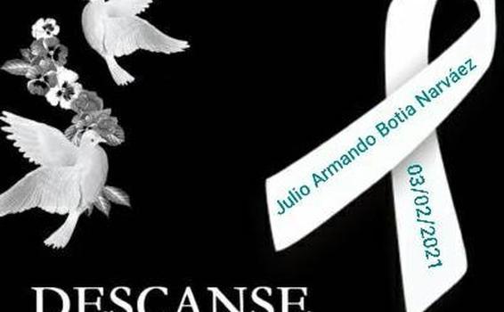 image for Lamentamos la muerte del comerciante Julio Armando Botia Narváez